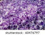 Purple Amethyst Cluster Background Pattern - stock photo