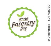forestry day logo design.... | Shutterstock .eps vector #604768730