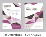 magenta annual report leaflet... | Shutterstock .eps vector #604771829