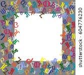 frame from letters of... | Shutterstock .eps vector #604776230