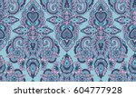 vector seamless pattern with... | Shutterstock .eps vector #604777928