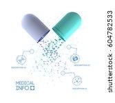 healthcare infographic template ... | Shutterstock .eps vector #604782533