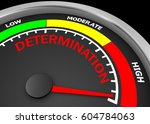 determination level to maximum... | Shutterstock . vector #604784063