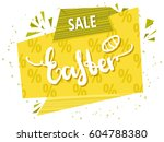 quote sale easter day... | Shutterstock .eps vector #604788380