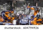 automobile production line | Shutterstock . vector #604794926