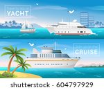 vector travel banners set.... | Shutterstock .eps vector #604797929