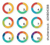 set of pie charts with... | Shutterstock .eps vector #604804388