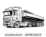 tank truck isolated on white | Shutterstock .eps vector #604810634