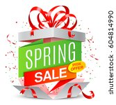 spring sale announcement | Shutterstock .eps vector #604814990