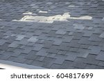 a close up view of shingles a... | Shutterstock . vector #604817699