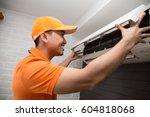 air conditioning technician   Shutterstock . vector #604818068
