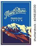 montblanc in alps  france ... | Shutterstock .eps vector #604818530