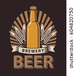 vector logo for a pub or a... | Shutterstock .eps vector #604820750