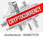 cryptocurrency word cloud... | Shutterstock .eps vector #604827170