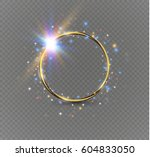 gold ring.on a white background.... | Shutterstock .eps vector #604833050