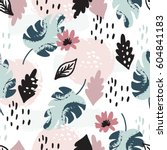beautiful seamless pattern with ... | Shutterstock .eps vector #604841183