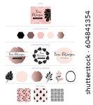 branding design  kit. logo... | Shutterstock .eps vector #604841354