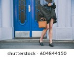 perfect spring fashion outfit.... | Shutterstock . vector #604844150