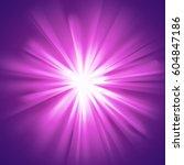 Purple Glowing Light. Bright...