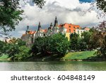view of the old house on the... | Shutterstock . vector #604848149