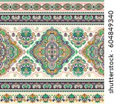 beautiful indian floral paisley ...   Shutterstock .eps vector #604849340