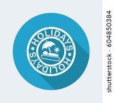 holidays summer stamp grunge | Shutterstock .eps vector #604850384