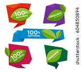 natural origami banners for... | Shutterstock .eps vector #604850894