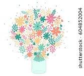 vector illustration with... | Shutterstock .eps vector #604852004