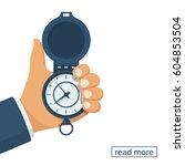 pocket watch in the hands of...   Shutterstock .eps vector #604853504