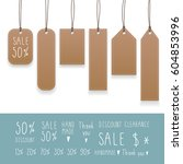 collection of hanging tags with ... | Shutterstock .eps vector #604853996