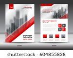 annual report brochure flyer... | Shutterstock .eps vector #604855838