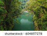 beautiful landscape in... | Shutterstock . vector #604857278