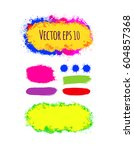 set of abstract vector colorful ... | Shutterstock .eps vector #604857368