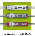 electric locomotive of railways ... | Shutterstock .eps vector #604857836