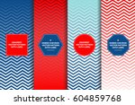 red white blue ombre chevron... | Shutterstock .eps vector #604859768