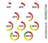 set of ten color percentage...