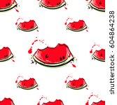 vector abstract seamless... | Shutterstock .eps vector #604864238