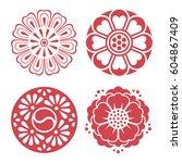 set of vector korean...   Shutterstock .eps vector #604867409