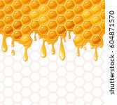 seamless honeycomb pattern with ... | Shutterstock .eps vector #604871570