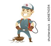 pest control service killing... | Shutterstock .eps vector #604874354