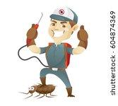 pest control service killing...   Shutterstock .eps vector #604874369