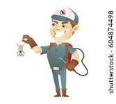 pest control service killing... | Shutterstock .eps vector #604874498