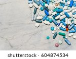 lots of pills and medicines