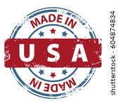 made in the usa rubber stamp... | Shutterstock .eps vector #604874834