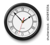 classic noble wall clock with... | Shutterstock .eps vector #604893056