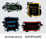 set of abstract grunge artistic ... | Shutterstock .eps vector #604896680