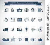 transportation  logistics and... | Shutterstock .eps vector #604901114