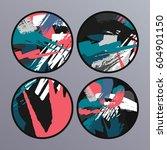 set of creative universal art... | Shutterstock .eps vector #604901150