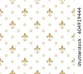 pattern with royal lily.... | Shutterstock .eps vector #604919444