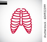 human thorax icon flat.   Shutterstock .eps vector #604922399